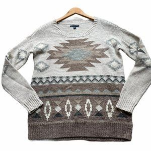 American Eagle Tribal Southwestern Wool Sweater Si